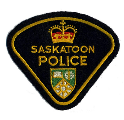 Canada - SK - City of Saskatoon Police (current style but old issue)(felt)(yellow)